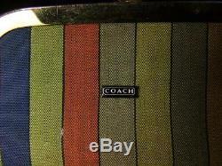 Vintage Coach 60 Bonnie Cashin Double-tête Baiser Entrave Rouge En Cuir De Bourse De Sac