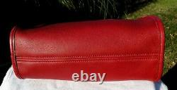 Vintage Coach Carousel Red Leather Domed Bag Crossbody Brass Hardware 9942