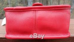 Vintage Coach Tn-o Nouveau 9023 Winnie Top Handle Mini Willis Rouge Rare