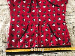 Vintage Emily The Strange Y2k Red Cats Skulls Grunge Hot Topic Punk Hoodie L/xl
