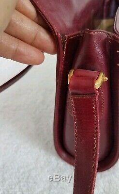 Vintage Gucci Sac Bourse Gg Mono 70 Web Authentique Toile En Cuir Véritable Classy