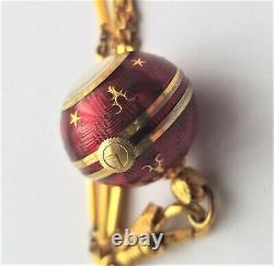 Vintage Guilloche Red Enamel Gold Stars Ball Globe Pendant Watch With Chain 17j Vintage Guilloche Red Enamel Gold Stars Ball Globe Pendant Watch With Chain 17j Vintage Guilloche Red Enamel Gold Stars Ball Globe Pendant Watch With Chain 17j Vintage Guil