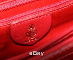 Vintage Mark Croix-rouge Pebbled Cuir Murphy Satchel Poignée Supérieure Sac À Main