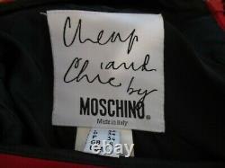 Vintage Moschino Jupe Pas Cher Et Chic Des Années 1990 Rouge/noir Taille 4 Us