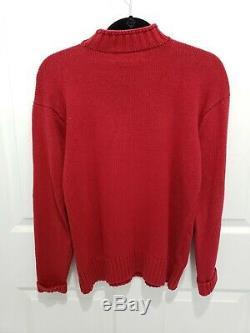Vintage Ralph Lauren Polo Sport Ours Main Pull Rouge Équestre Petit