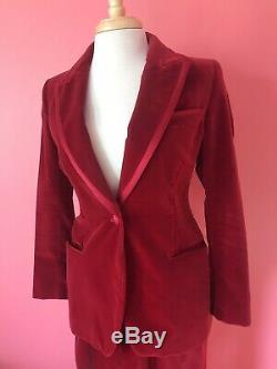 Vintage Rare 1996 Iconique Tom Ford Pour Gucci Red Velvet Tuxedo Vogue