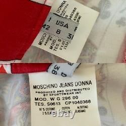 Vintage Rare 90s Moschino Jeans Jouer Cartes Nouveauté Imprimer Jupe De Poker Sz 8