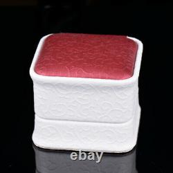 Vintage Solide Diamant Or Jaune Naturel 14k Blood Ruby Ventage Halo Anneau
