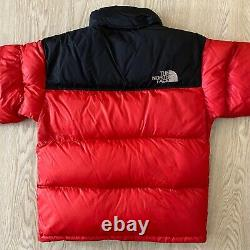 Vintage The North Face 700 Down Nupste Puffer Veste Rouge