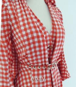 Vivienne Westwood 1996 Les Femmes Gingham Check Robe Manteau Robe Vintage Rare