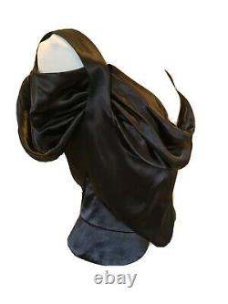 Vivienne Westwood Vintage Red Label Rare Black Corset Blouse Taille 46 Uk 14 Bnwt