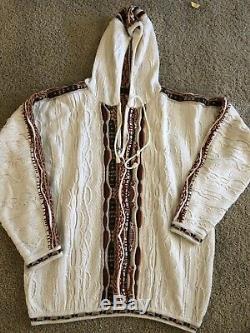 Vtg Coogi Blanc Maroon Capot Hommes Pantalons Pull Femmes Unisexe Xl-page