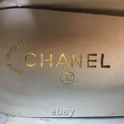 Vtg Rare Printemps 1997 Chanel Chaussures Rouge
