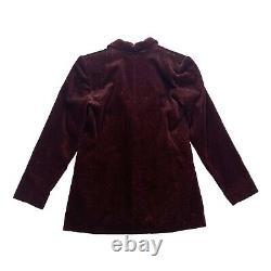 Yves Saint Laurent Sparkly Corduroy Blazer Veste Vintage Ysl Designer Red Vtg